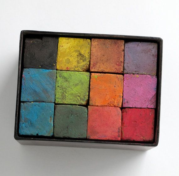 box of vintage lecturers chalk squares