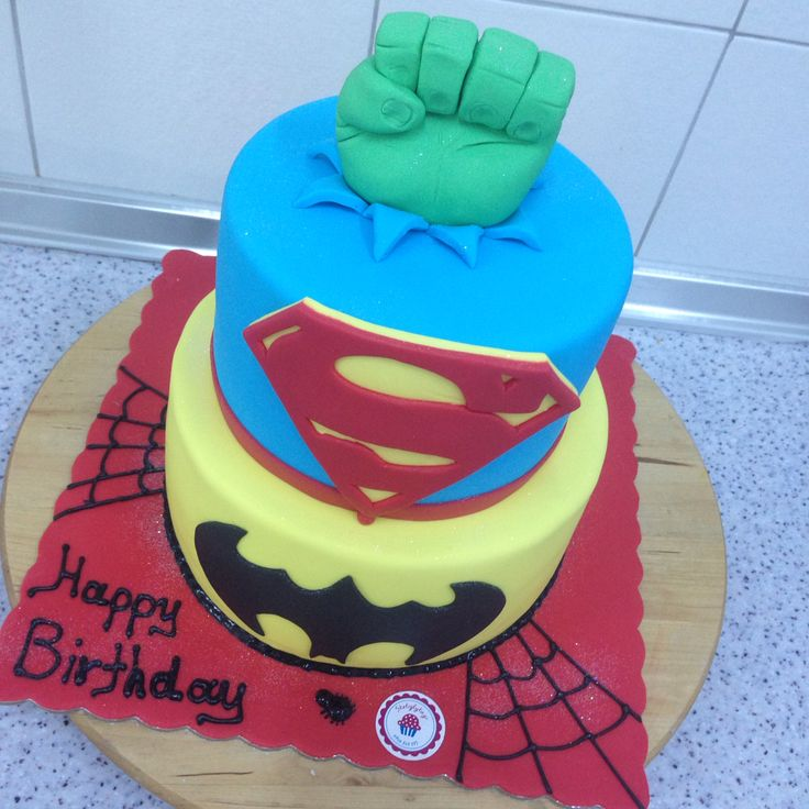 #super #heroes #cake by #sketiglyka