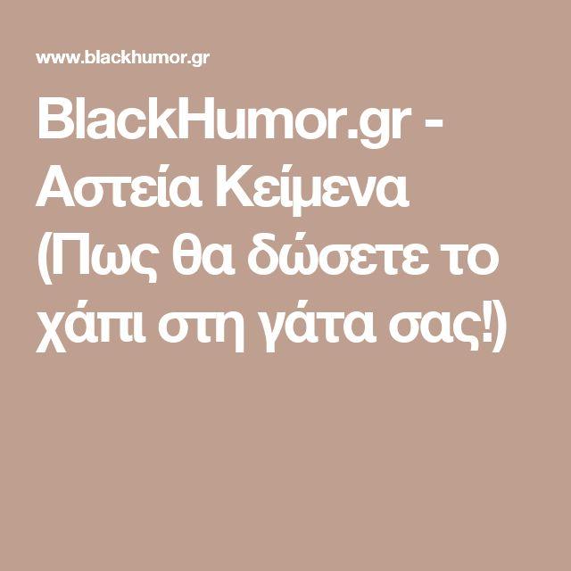 BlackHumor.gr - Αστεία Κείμενα (Πως θα δώσετε το χάπι στη γάτα σας!)