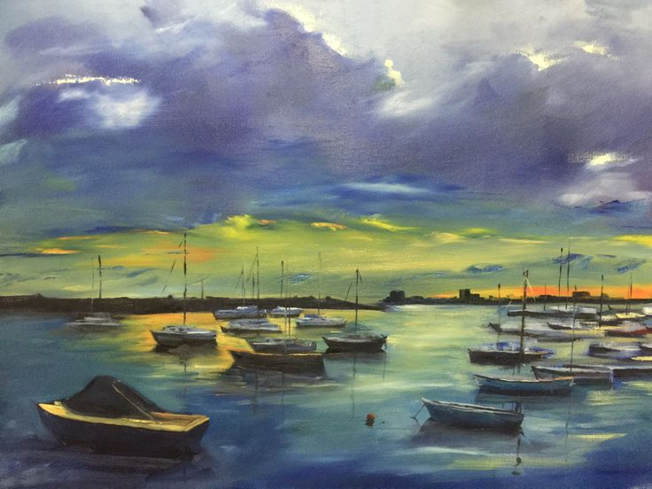 St Kilda night sky - oil on canvas Private collection  Rick Brun