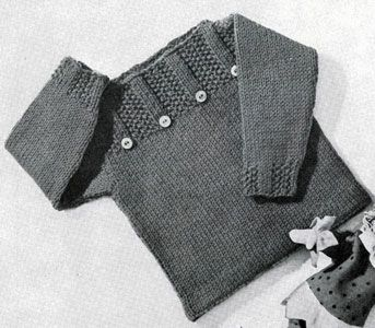 Pullover knitting pattern from Lacey's Speed Knits for Tiny Tots, originally published by T.M. Lacey, Volume 31.