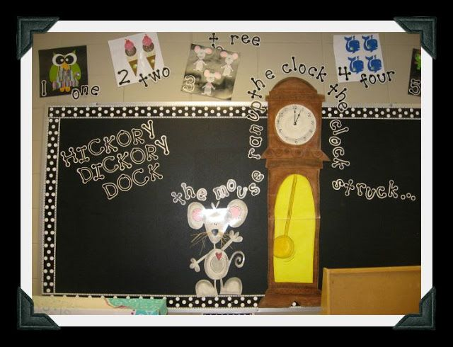 Nursery Rhymes Bulletin Boards Hickory Dickory Dock