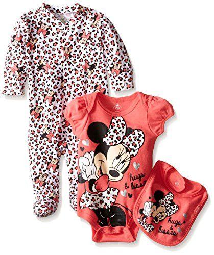 Disney Baby Minnie Mouse 3 Piece Layette Set, Pink, 0-3 Months