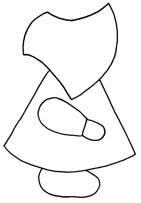 Sun Bonnet Sue Quilting Template - WOW! I might just have to make one of these :)