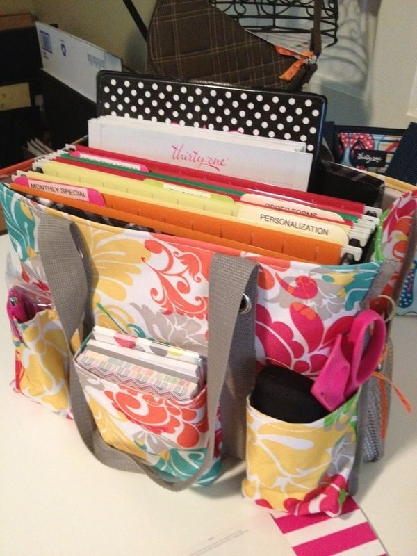 The thirty one organizing utility tote..good use for homework organization, mobile office, organizing bills, etc..