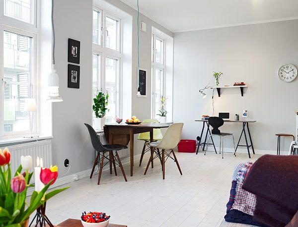 Swedish studio apartment minimalist studio apartment 39 for Minimalist small apartment