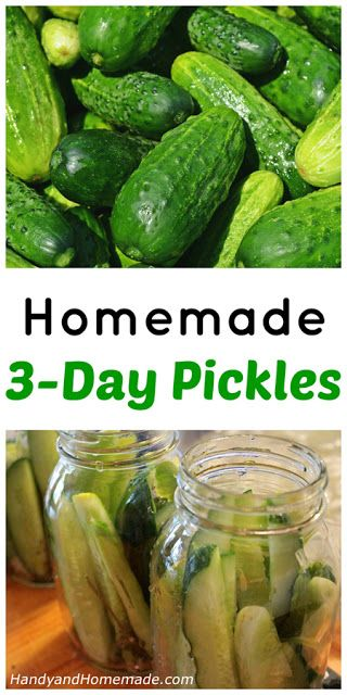 How To Make Homemade 3-Day Pickles Recipe