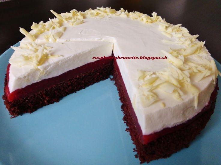 Raspberrybrunette: Jahodovo-smotanová torta    cesto:  3 vajcia125 g ...