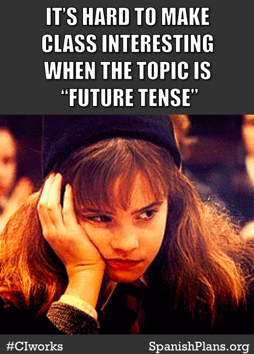 """If your lesson is focused on a grammar rule it is hard to make the lesson relevant to students' lives. What you rather have a lesson about the """"future tense"""" or a lesson where the outcome is """"I can talk about what I am going to do this weekend.""""? Grammar is not an outcome; it is a tool used to express communication. #CIworks"""