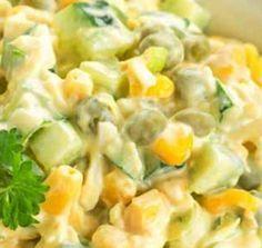 Salada de Milho com Molho de Iogurte - http://www.receitasja.com/salada-de-milho-com-molho-de-iogurte/