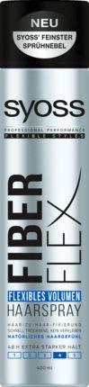 Für die perfekte Balance zwischen Halt und Geschmeidigkeit: Das Syoss Haarspray Fibre Flex Flexibles Volumen bietet bis zu 48h flexible Styling-Kontrolle...