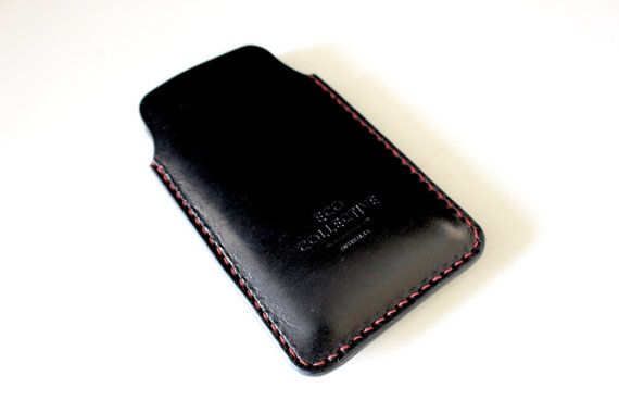 iPhone 6 plus case/sleeve/cover leather black by EcoCollectiveAus