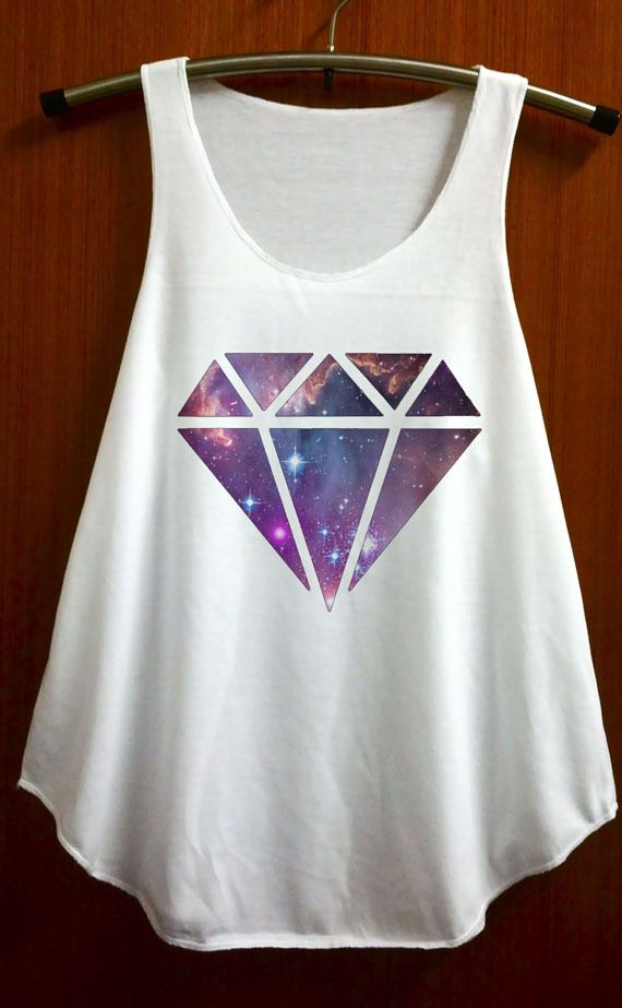 Diamond Galaxy Shirt Top Tank Top Tee Tunic Singlet Women Shirts Clothing Size S and M