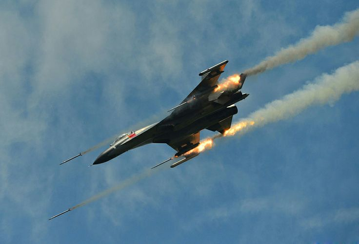 PLAAF's J-11 Sino Flanker Fighter Jet Participate in Exercise ~ Chinese Military Review