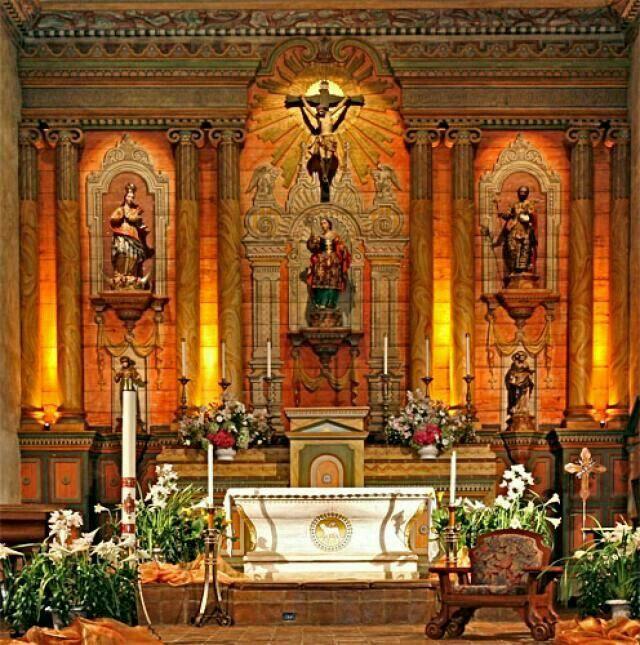 The Franciscan church of Mission Santa Barbara, California, USA