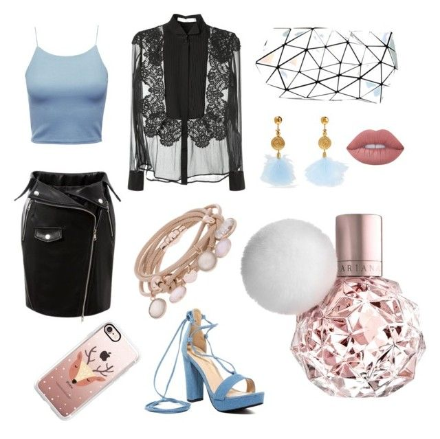 """Look 1"" by desirahmaningsh on Polyvore featuring Givenchy, Bao Bao by Issey Miyake, Marjana von Berlepsch, Aurélie Bidermann, Lime Crime, Casetify and Chase & Chloe"