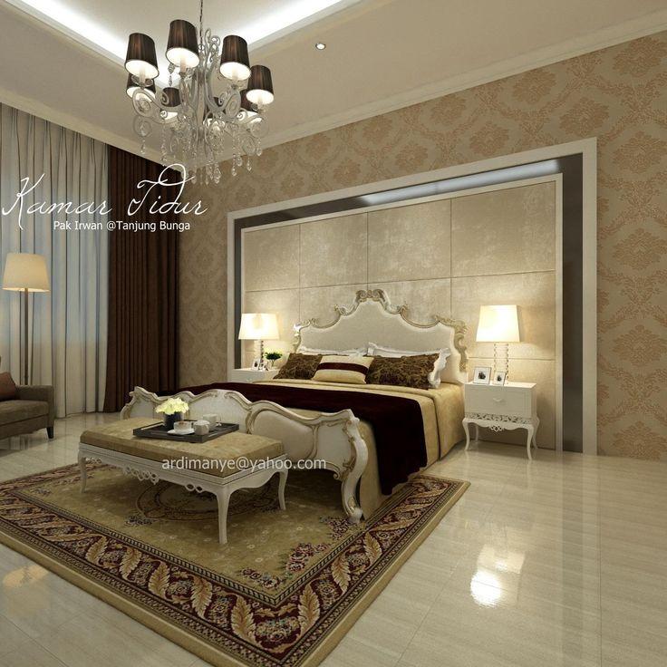 desain interior arsitek kamar utama konsep modern klasik