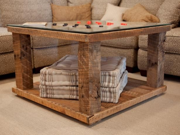 Learn how to build a coffee table that doubles as a checkerboard table. Visit DIYNetwork.com for the complete how-to project, plus step-by-step photos of the coffee table construction process.