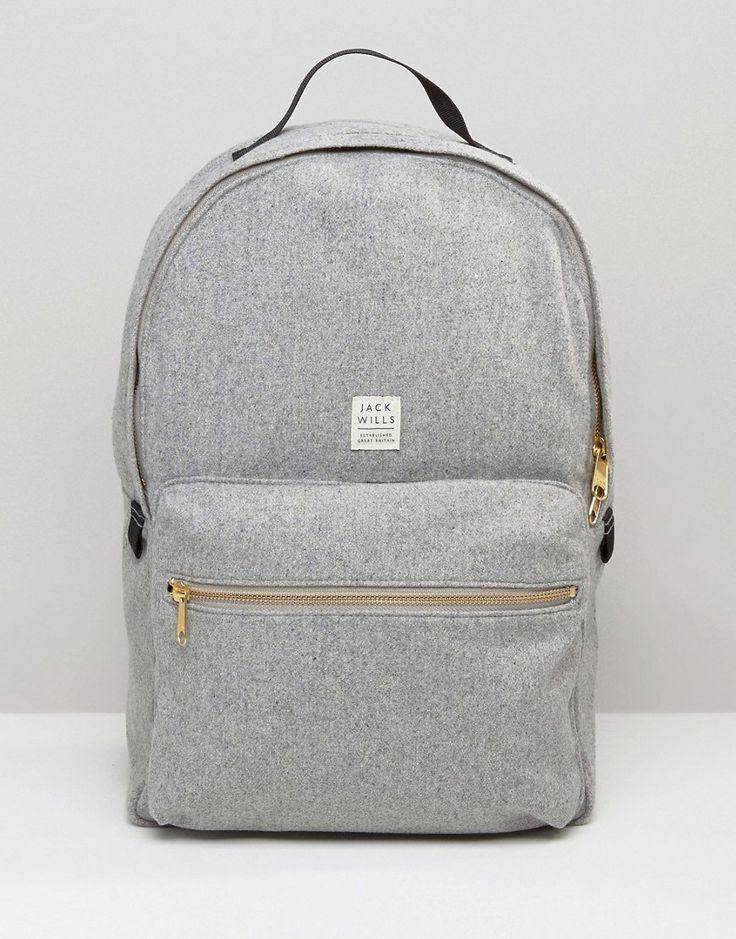 Image 1 of Jack Wills Backpack In Grey Wool
