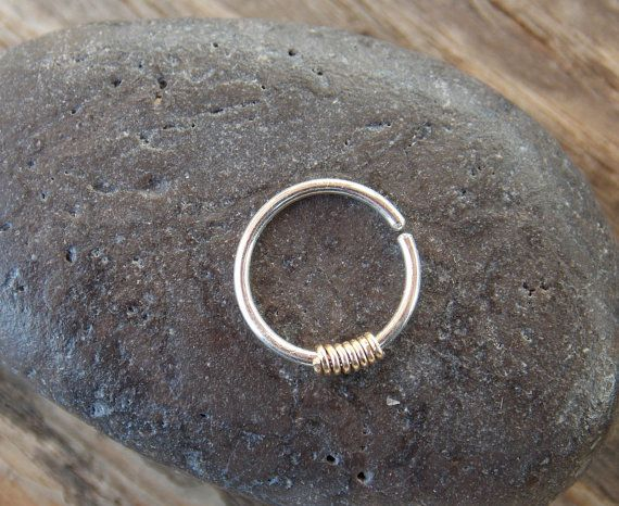 Small gold nose hoop 14k Gold Filled 22 18 door sofisjewelryshop