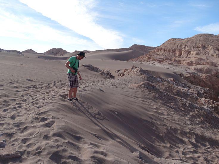Sanddünen im Valle de la Muerte.   Aufgenommen bei der Tour ins Valle de la Luna von San Pedro de Atacama aus.
