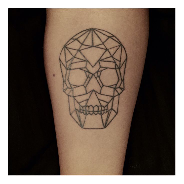 Tattoo Designs Geometric: Skull Tattoo, Geometrical Skull, Tattoo, Skull