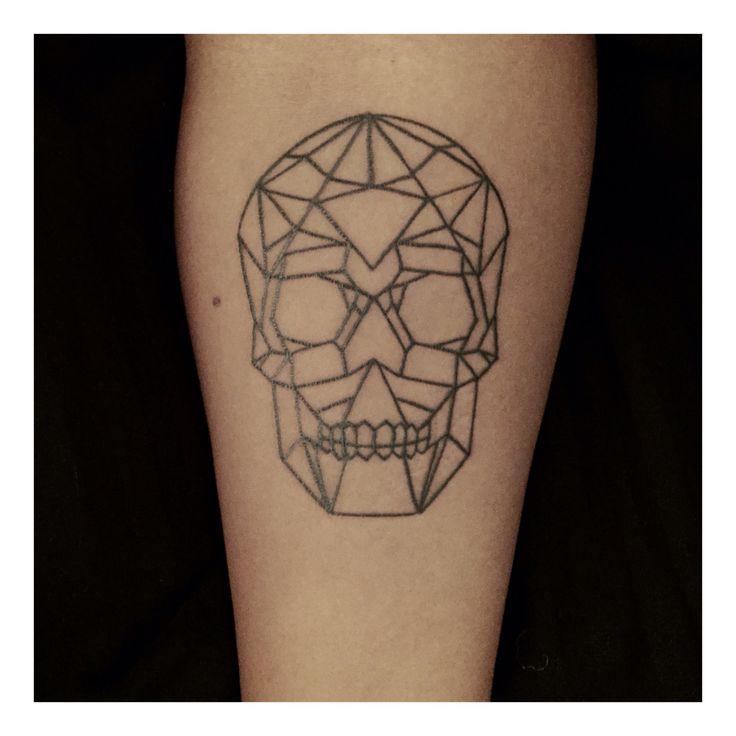 Skull tattoo, geometrical skull, tattoo, skull, geometrical tattoo
