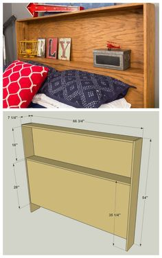 DIY Storage Headboard :: Get the FREE PLANS for this project and many others at buildsomething.com