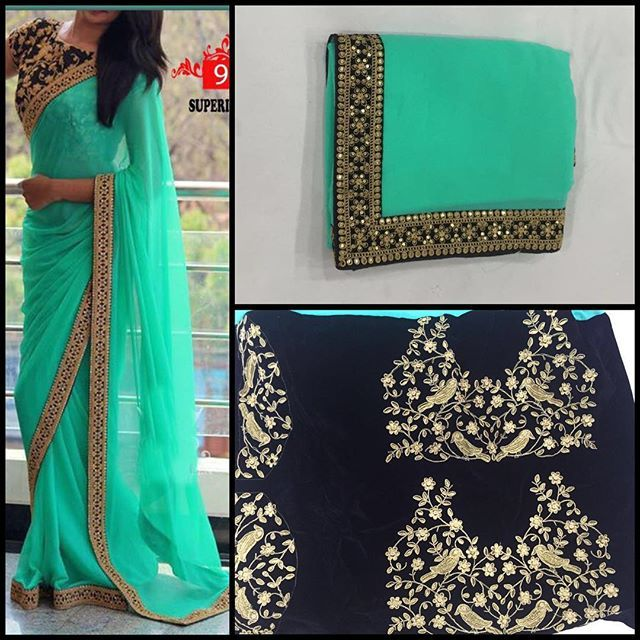 Mint green georgette Saree with black Emboridery blouse To purchase this product mail us at houseof2@live.com  or whatsapp us on +919833411702 for further detail #sari #saree #sarees #sareeday #sareelove #sequin #silver #traditional #ThePhotoDiary #traditionalwear #india #indian #instagood #indianwear #indooutfits #lacenet #fashion #fashion #fashionblogger #print #houseof2 #indianbride #indianwedding #indianfashion #bride #indianfashionblogger #indianstyle #indianfashion #banarasi…