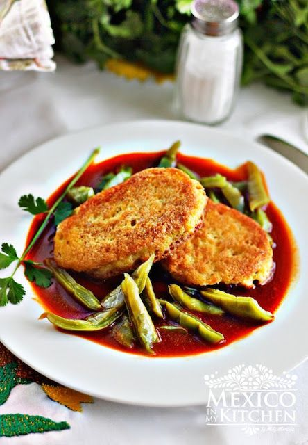 Dried shrimp patties served over a bed of nopales with a guajillo sauce. Finger-licking good!
