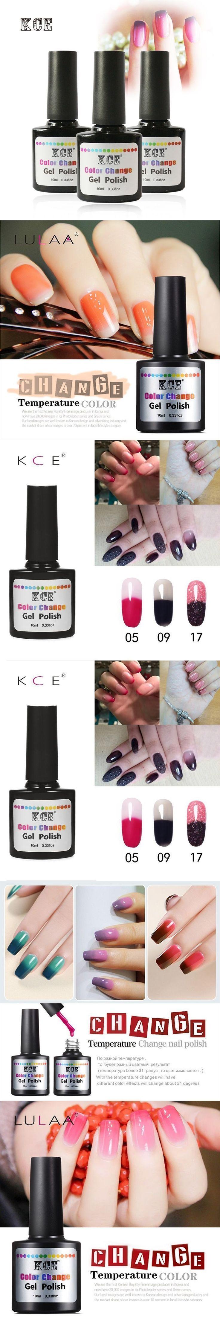 LULAA 7.5 ML Temperature Chameleon Nail Gel Polish Thermal Color Change UV GeL Nail Soak Off Gel Nail Polish Changing Color #uvgelnails