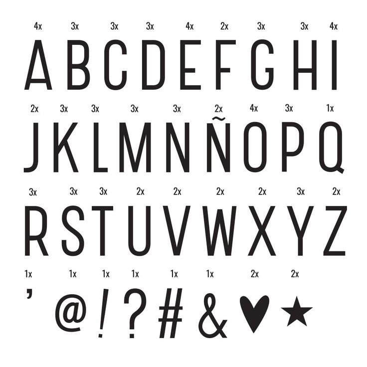 Letter Pack for Lightbox - Basic