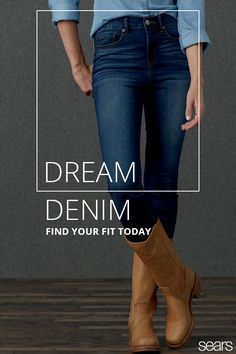 Flaunt a fresh look around town when wearing these different pairs of denim. From bootcut to jeggings, channel your inner maven of casual style in denim that allows movement and flatters your body. Find your fit at sears.com today.