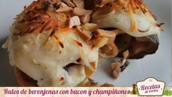 Rollitos de berenjenas y bacon relleno de champiñones -  Las berenjenas son un alimentos exquisito y muy versátil. Además, contienen un bajo contenido en grasas, por lo que se convierten en una de las verduras geniales para poder mantener la línea en las dietas en las dietas de adelgazamiento. Al ser rápidas de hacer, se pueden hacer para ocasiones es... - http://www.lasrecetascocina.com/2014/01/20/rollitos-de-berenjenas-y-bacon-relleno-de-champinones/