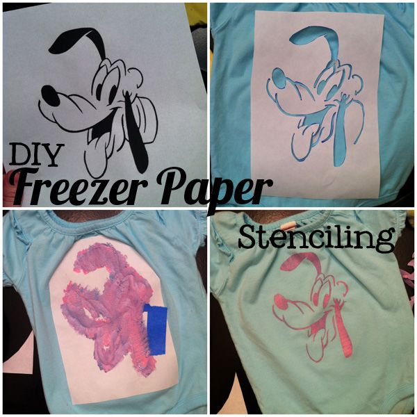Freezer Paper Stenciling.... custom made Disney Shirts could be in my future.