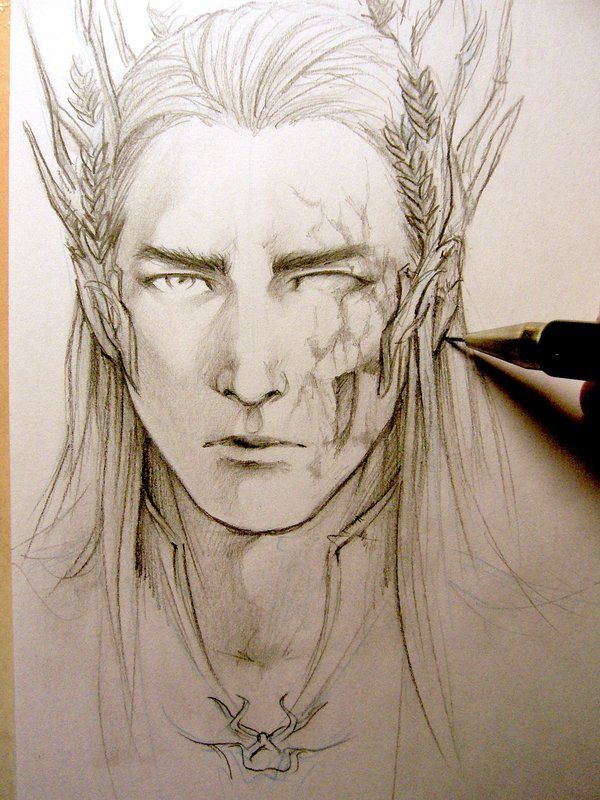 Эльф рисунок карандашом простой