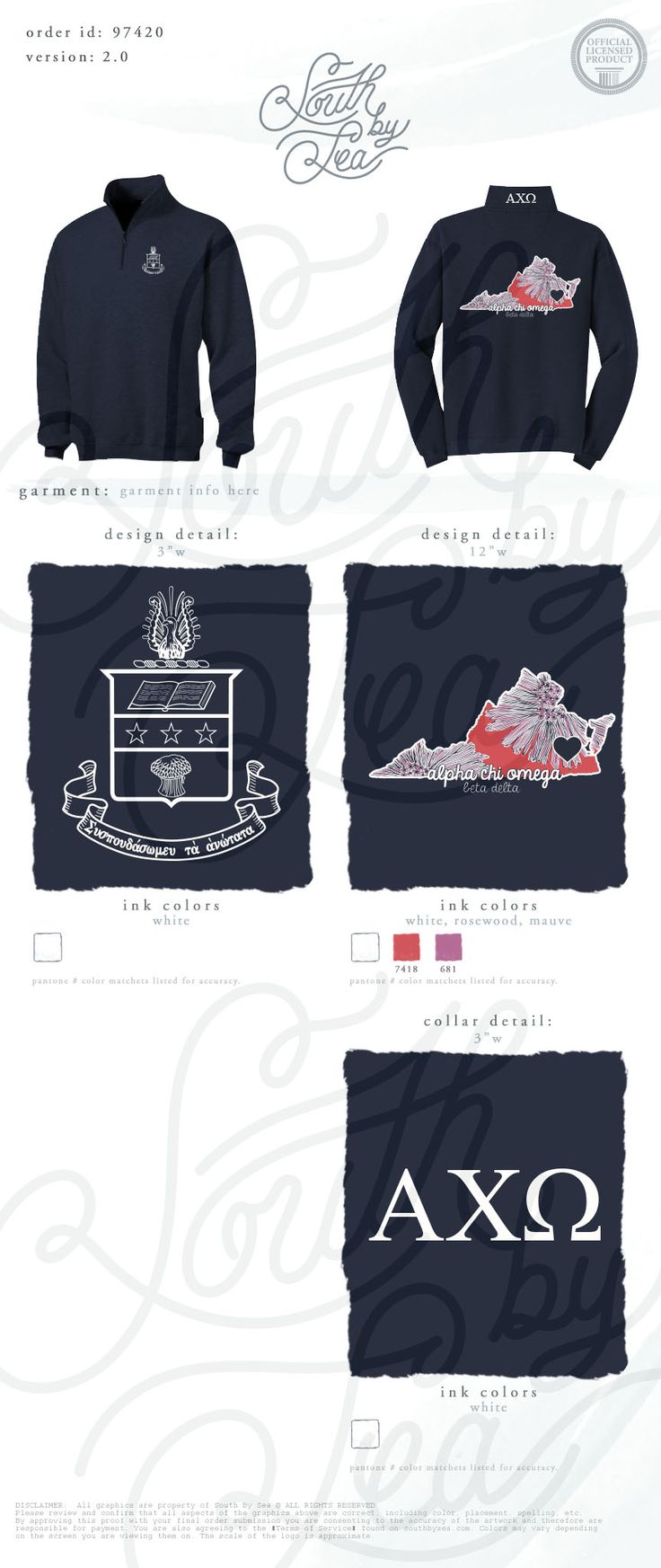 Design t shirt idea - Alpha Chi Omega Axo Quarter Zip Designs Virginia Home State Tie Dye