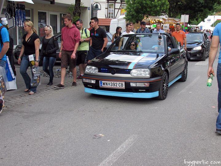 """getuntes VW Golf 3 Cabrio """"Erdbeerkörbchen"""" Wörthersee 2014"""