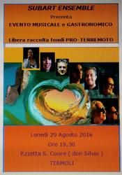 Molise: #Musica e #cibo al Sacro Cuore: una raccolta fondi per i terremotati (link: http://ift.tt/2bHKxPJ )