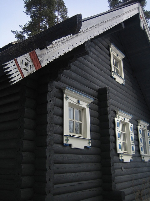 karelian log house
