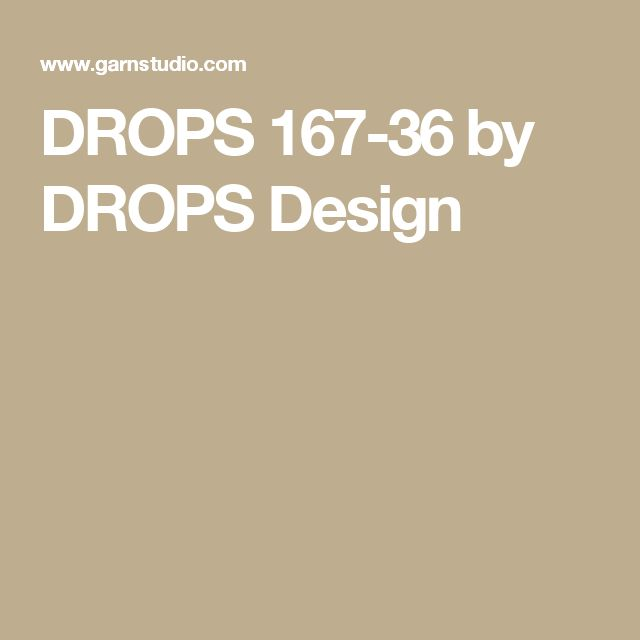 DROPS 167-36 by DROPS Design
