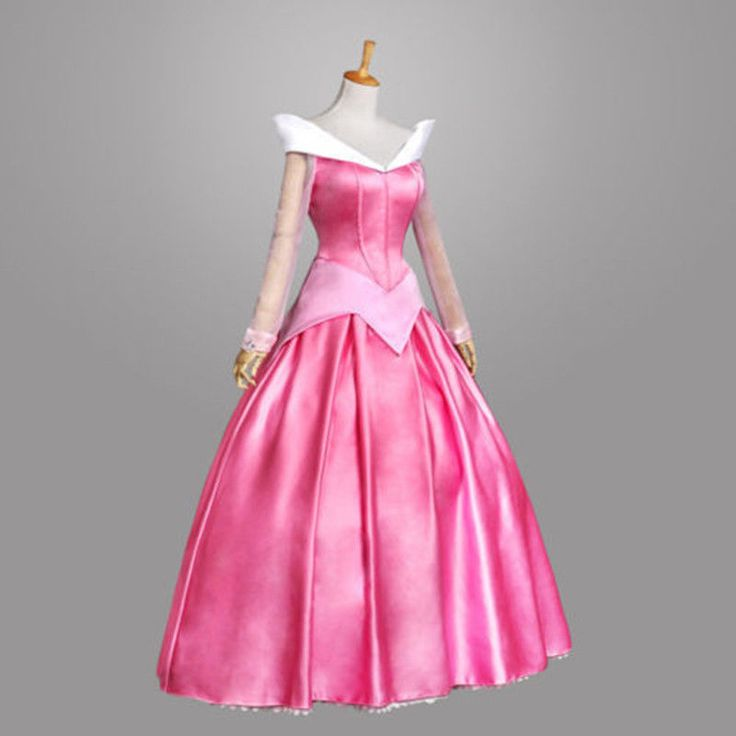 Princess Aurora Adult Costume Sleeping Beauty Pink Dress Sequins Gown Cosplay   Clothing, Shoes & Accessories, Costumes, Reenactment, Theater, Costumes   eBay!