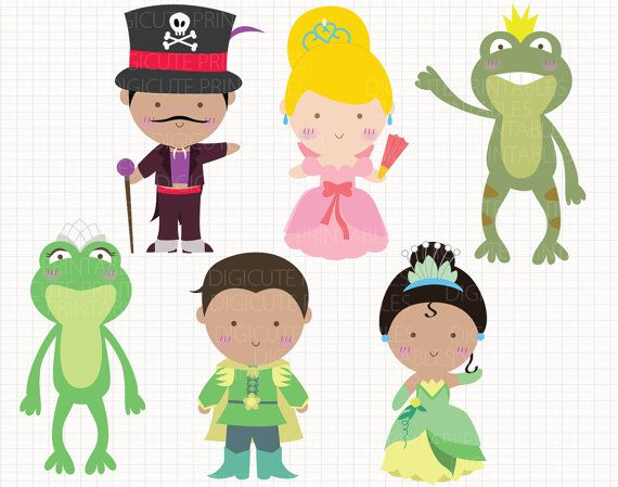 Disney Inspired Princess and the Frog Digital CLIP by Digicute, $5.00
