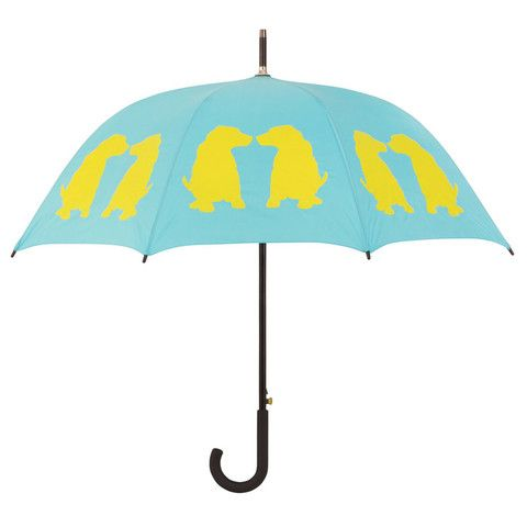 Labrador Puppies Umbrella ~ Identify yourself and your favorite dog breed with this beautiful rain umbrella featuring two yellow Labrador Puppies silhouette images. Take this stylish umbrella with you to the park, on walks, on errands … wherever it's raining, this umbrella shows your devotion to Labs.