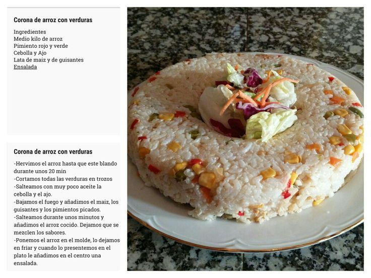 Ingredientes, receta y plato terminado