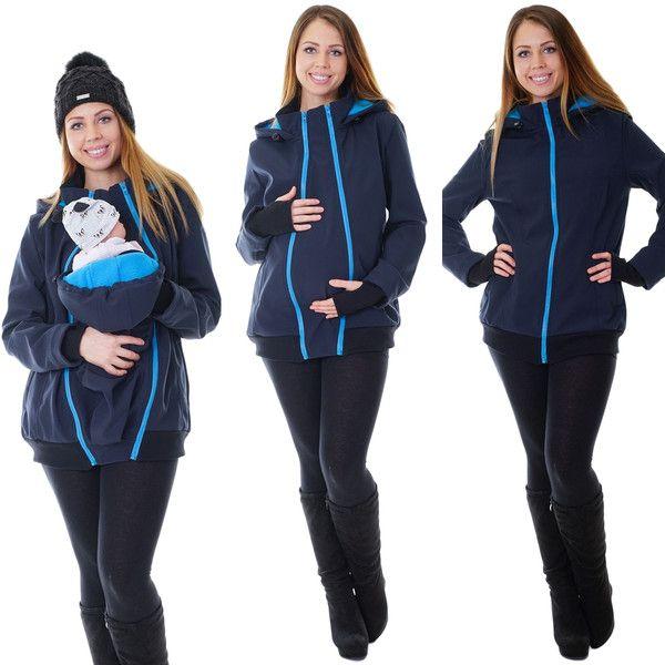 Stillmode - 3in1 Tragejacke Umstandsjacke Softshelljacke  - ein Designerstück von Divita-Umstandsmode bei DaWanda