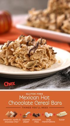 It's autumn and that means it's trick or treat time! Can you guess the tricky ingredient in these Mexican Hot Chocolate Cereal Bars? (Hint: it's cayenne pepper!). Mix together with butter, marshmallows, and Chocolate, Vanilla, and Cinnamon Chex for a Halloween party treat. Simply Delicious. Simply Chex.