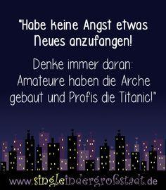 Spruch: Arche & Titanic!