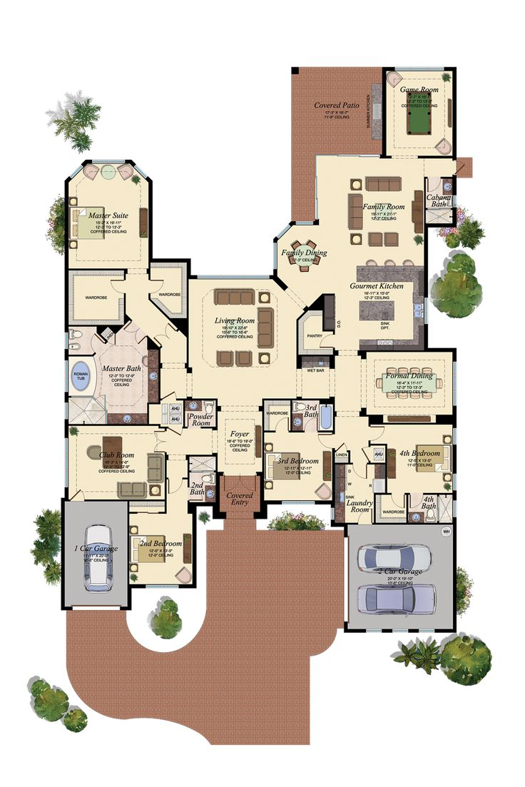 The Belvedere Floorplan - Watch the Model Tour Here! http://www.glhomes.com/the-bridges/video-tours#/plans/belvedere GL Homes - New Homes in Florida