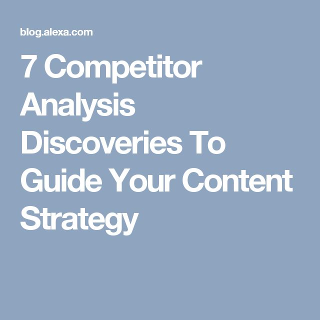 7 Competitor Analysis Discoveries To Guide Your Content Strategy